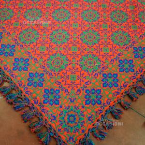 Tappeto In Lana Blu Rosso Doubble Face 220*230cm Con