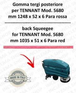 5680 GOMMA TERGI anteriore PARA rossa per lavapavimenti TENNANT - squeegee 900 mm