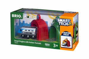 BRIO - Smart Tech Locomotiva Intelligente con Tunnel, 33834