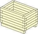 FIORIERA LEGNO CM 100X40 H 40