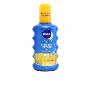 Nivea Sun Latte Solare Rinfrescante Protect And Refresh Spray Spf50 200ml