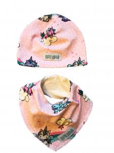 Arcobaleno cappello + bavetta baby