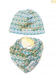 Tulipani cappello + bavetta baby