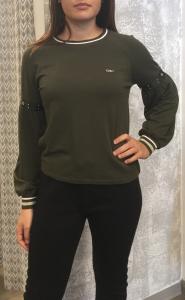 Felpa donna LIU.JO SPORT verde militare