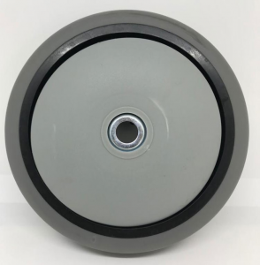 Ruota posteriore con cuscinetti ø160 mm x 46 mm + parafilo in nylon ø89 cod: 19 - 033 per Ghibli e Wirbel