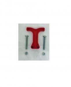 Maniglia rossa para connettore 80 SBER con viti di fissaggio