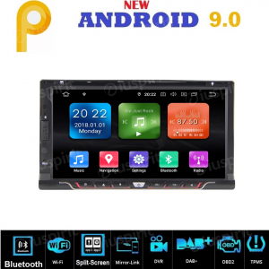 ANDROID 9.0 GPS DVD USB SD WI-FI Bluetooth Mirrorlink 6.9 pollici navigatore autoradio 2 DIN universale