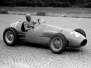 Alberto Ascari su Ferrari, Gp di Monza, 1952