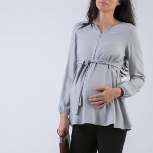 Maglia allattamento grigio chiaro