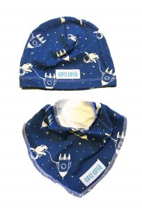 Astronauta cappello + bavetta baby