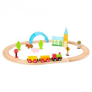 Trenino Ferrovia in legno Città e campagna