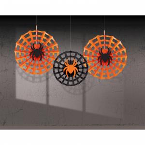 Decorazione ragnatela con ragno Halloween