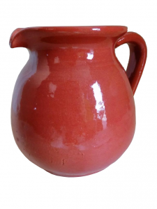 Caraffa in terracotta smaltata lt.0.5