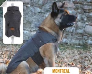 Cappotto Impermeabile per Cani Montreal Nero