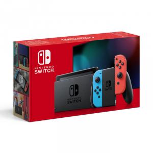Nintendo Switch (nuova versione)  con Joy-Con rosso neon/blu neon (Console)