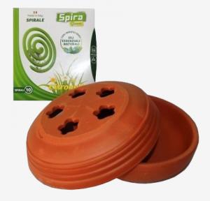 Spira Green Coccio con 10 spirali