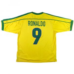 1998-00 BRASILE MAGLIA HOME RONALDO #9 L