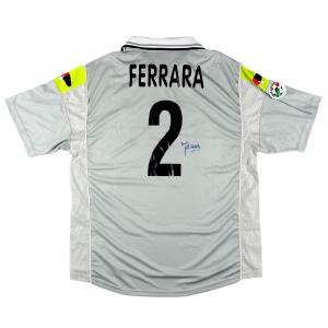 2000-01 Juventus Maglia #2 Ferrara Match Issue/Worn XL *Autografata