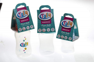Biberon Tully presa facile 300 ml P.P. con tettarella in silicone 0m+