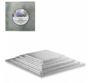 Cakeboard silver Quadrato Decora 30x30
