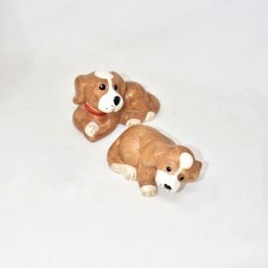 Coppia Cani In Ceramica