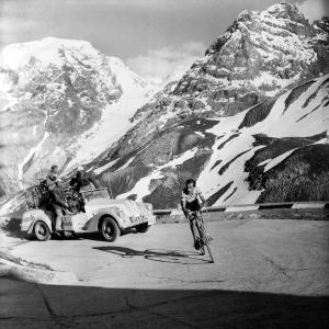 Fausto Coppi sullo Stelvio al Giro d'Italia, 1953