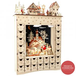 Calendario Avvento in legno Sogno invernale