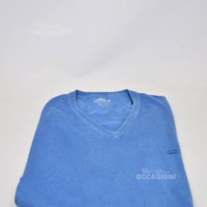 Maglione Uomo Leggero Lacoste Tg 5 Azzurro