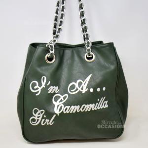 Borsa Verde Ecopelle Camomilla I'm A Camomilla Girl