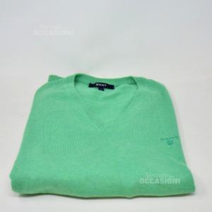 Maglione Uomo Gant Verde Tg L