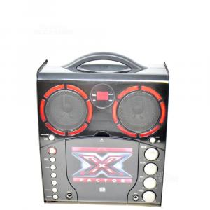 Canta Tu X Factor Completo Di 1 Microfono E Cavi + 5 Cd Misti