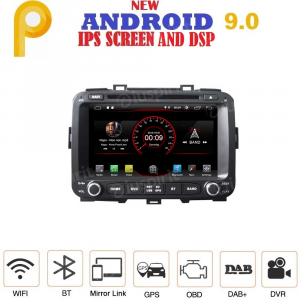 ANDROID 9.0 GPS DVD USB SD WI-FI Bluetooth Mirrorlink autoradio 2 DIN navigatore per Kia Carens 2013-2018