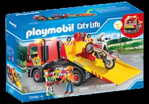 PLAYMOBIL CARRO ATTREZZI CON MOTO 70199