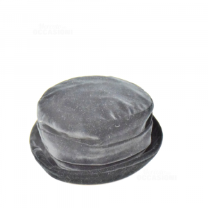 Cappello Nero In Ciniglia Made In Italy