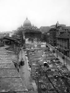 Via della Conciliazione under Construction, Rome, 1937
