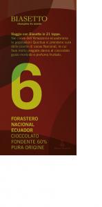Tavoletta n°6: Forastero Nacional Ecuador pura origine 60%