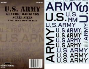 US ARMY GENERIC MARKINGS