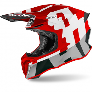 CASCO MOTO CROSS AIROH TWIST 2.0 2020 FRAME RED MATT TW2F55