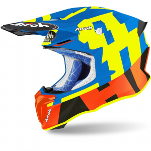 CASCO MOTO CROSS AIROH TWIST 2.0 2020 FRAME AZURE MATT TW2F18