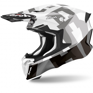 CASCO MOTO CROSS AIROH TWIST 2.0 2020 FRAME GREY GLOSS TW2F21