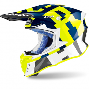 CASCO MOTO CROSS AIROH TWIST 2.0 2020 FRAME BLUE GLOSS TW2F35