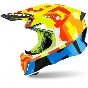 CASCO MOTO CROSS AIROH TWIST 2.0 2020 YELLOW GLOSS TW2F31