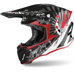 CASCO MOTO CROSS AIROH TWIST 2.0 2020 KATANA RED GLOSS TW2K55