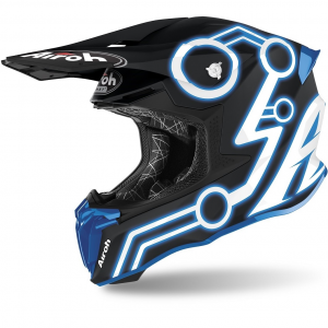 CASCO MOTO CROSS AIROH TWIST 2.0 2020 NEON BLUE MATT TW2N18