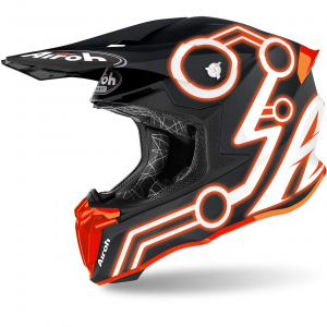 CASCO MOTO CROSS AIROH TWIST 2.0 2020 NEON ORANGE MATT TW2N32