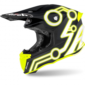 CASCO MOTO CROSS AIROH TWIST 2.0 2020 NEON YELLOW MATT TW2N31