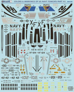 USN F-14 Tomcats Colors & Markings