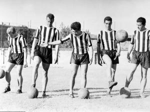 Juventus, allenamenti, 1957