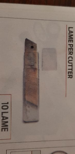 Hit TK2510 lame per cutter taglierino professionale 25mm conezione da 10 pezzi