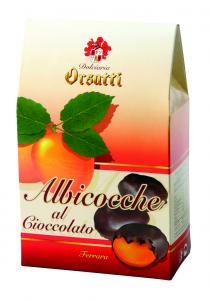 Albicocche ricoperte al cioccolato fondente